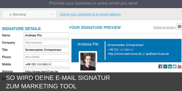 Deine E-Mail Signatur ist ein Marketing Tool
