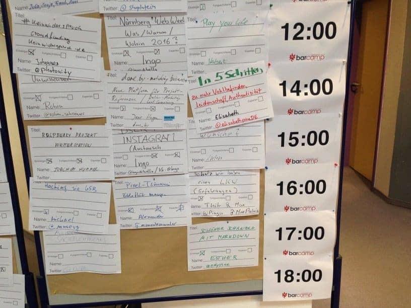 Barcamp Sessionplan
