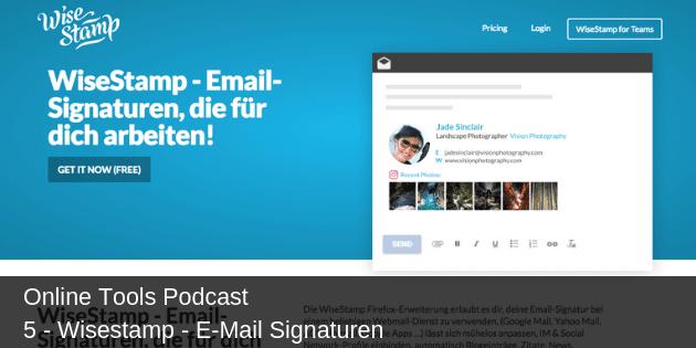 # 5 - Wisestamp - E-Mail Signaturen