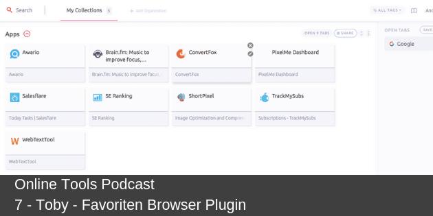# 7 - Toby - Favoriten Browser Plugin