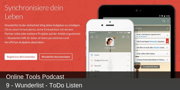 # 9 - Wunderlist - ToDo Listen
