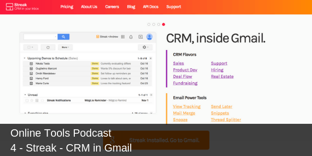 # 4 – Streak – CRM in Gmail